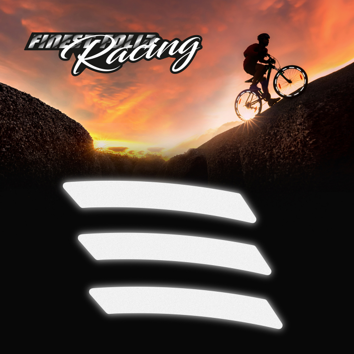 40er Set reflektierende Fahrrad Felgenaufkleber Oralite Technology Schwarz Fahrradhelm Laufrad Sicherheit K134 refkletorband Amazon helmaufkleber neon gelb Sicherheit Motorrad Unfall Verhütung radfahren radler